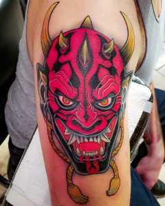 Oni mask tattoo Benefits